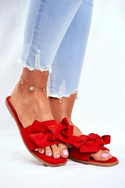 Dámske šľapky farba červená kód obuvi WL059 ORANGE