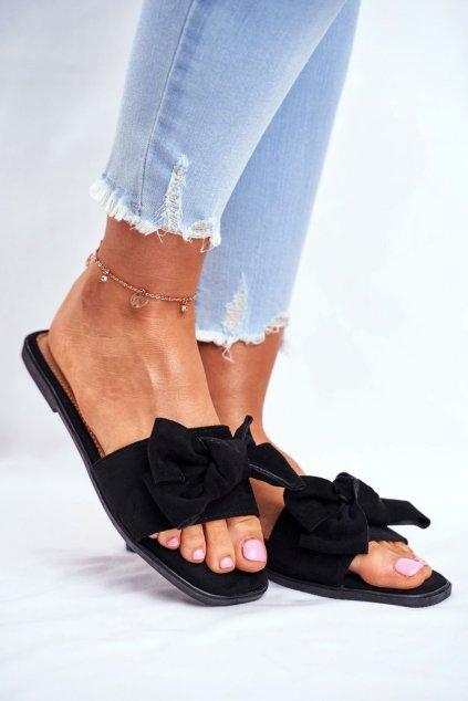 Dámske šľapky farba čierna kód obuvi WL059 BLK