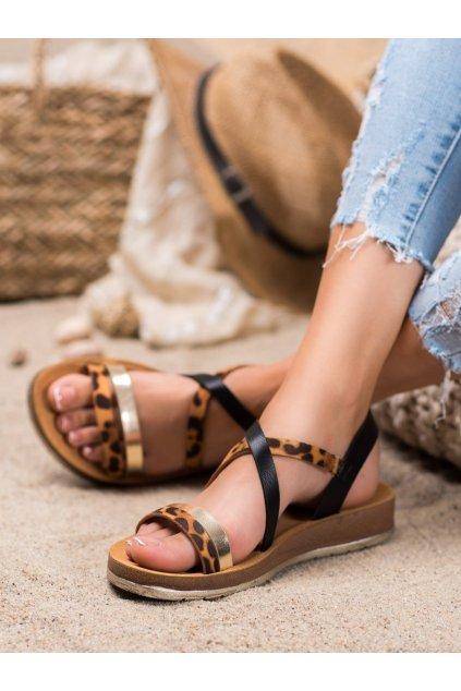 Čierne sandále Shelovet kod P597B