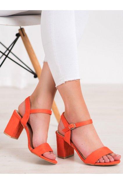Oranžové sandále na podpätku Nio nio kod 3032OR