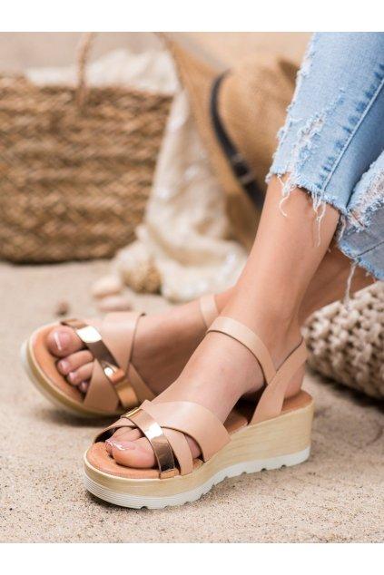 Hnedé sandále Renda kod BQ-35P
