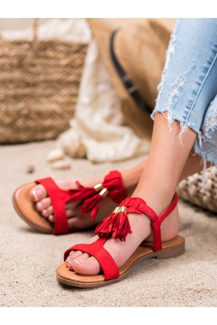 Červené sandále Renda kod 222-30R