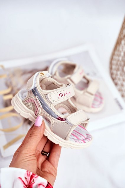 Detské sandále farba hnedá kód obuvi A1486 BEIGE