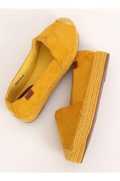 Dámske sandále s plochou podrážkou žlté na plochom podpätku WH941