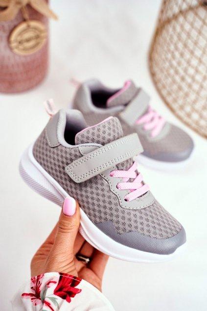 Detské tenisky farba sivá kód obuvi 20DZ55-2312 L.GREY