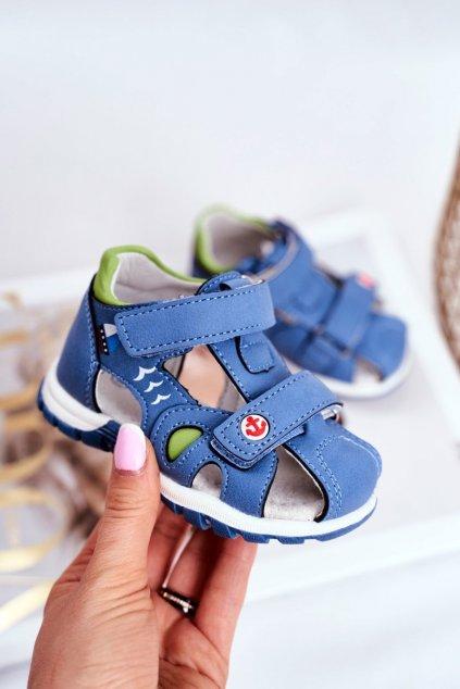 Detské sandále farba modrá kód obuvi HX143 BLUE