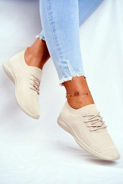 Hnedá obuv kód topánok 6309 BEIGE