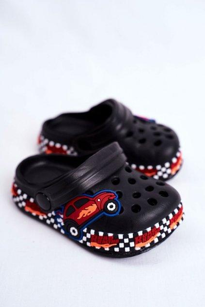 Detské šľapky farba čierna kód obuvi JHCG20-GY1994D BLK