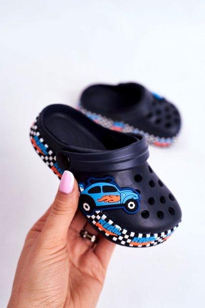 Detské šľapky farba modrá kód obuvi JHCG20-GY1994D NAVY