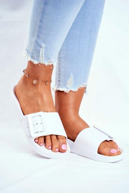 Dámske šľapky farba biela kód obuvi FF274A391 WHITE