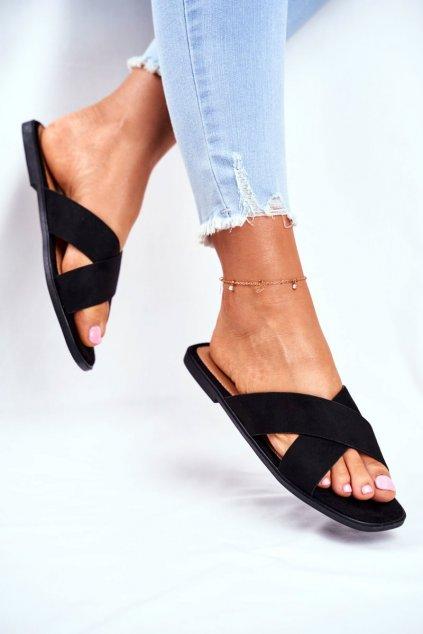 Čierna obuv kód topánok WL057 BLK