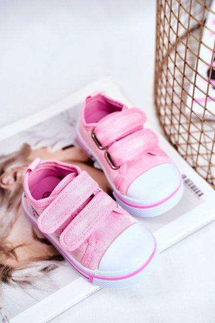 Detské tenisky farba ružová kód obuvi A1454 A2098 PEACH BLOW