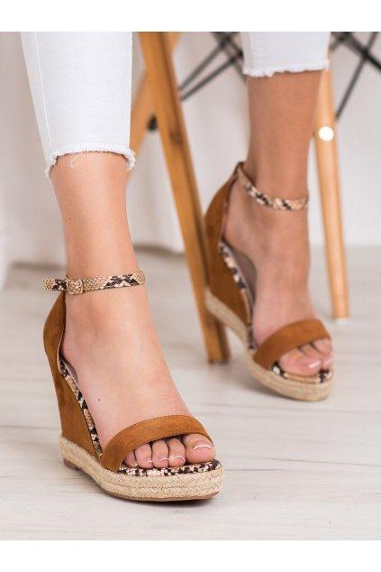 Hnedé sandále na platforme Goodin kod GD-NF-07C