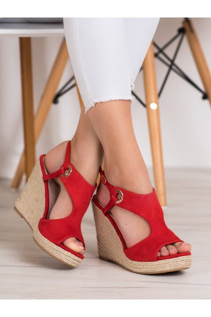 Červené sandále na platforme Goodin kod GD-NF-08R