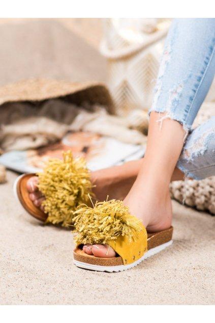 Žlté dámske šľapky Shelovet kod FD14Y
