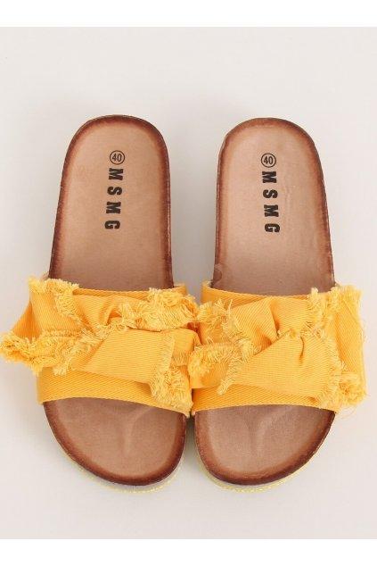 Damske šľapky žlté WS9023