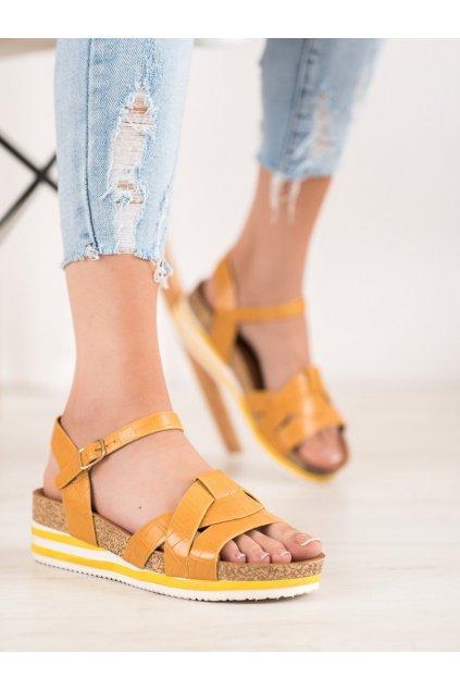 Žlté sandále na platforme Comer kod ALS037Y