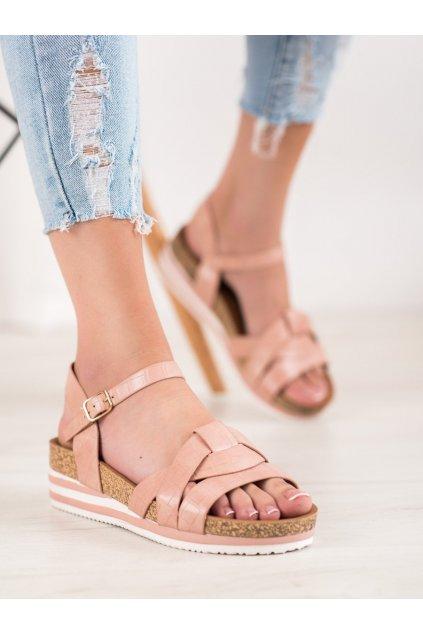 Ružové sandále Comer kod ALS037P