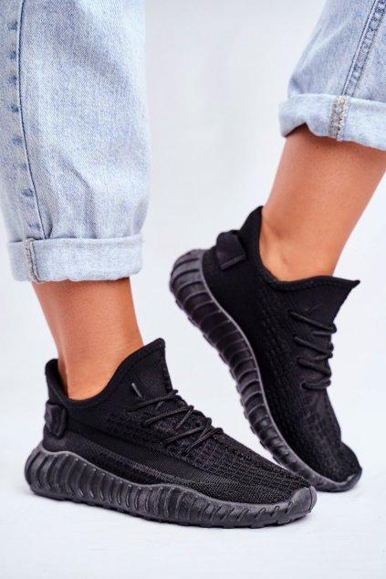 Dámske tenisky farba čierna kód obuvi LA90 BLK