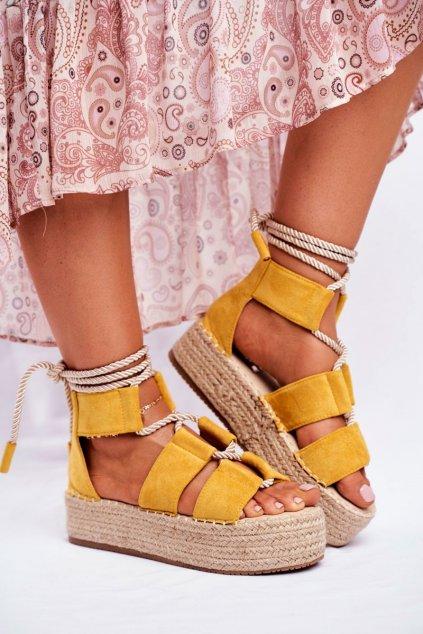 Dámske tenisky farba žltá kód obuvi JH89 YELLOW