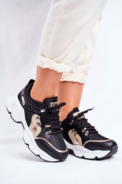 Čierna obuv kód topánok BL199 BLK