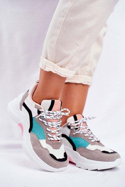 Dámske tenisky farba biela kód obuvi JD02 WHITE/GREEN