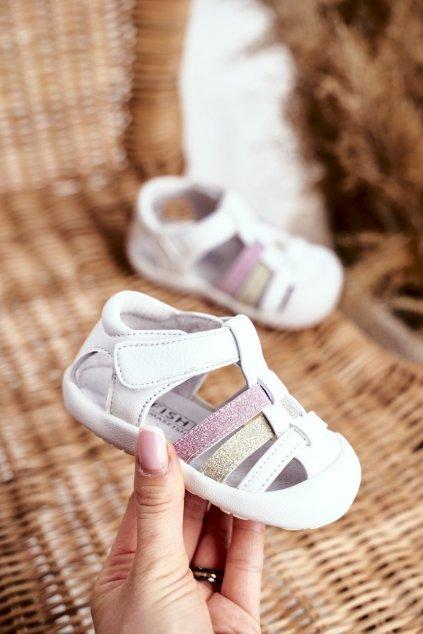Detské sandále farba biela kód obuvi IC42 WHITE