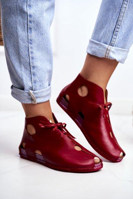 Červená obuv kód topánok 03426-08/00-0 RED