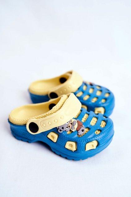 Žltá obuv topánok NJSK JJHC20-GY1011ED