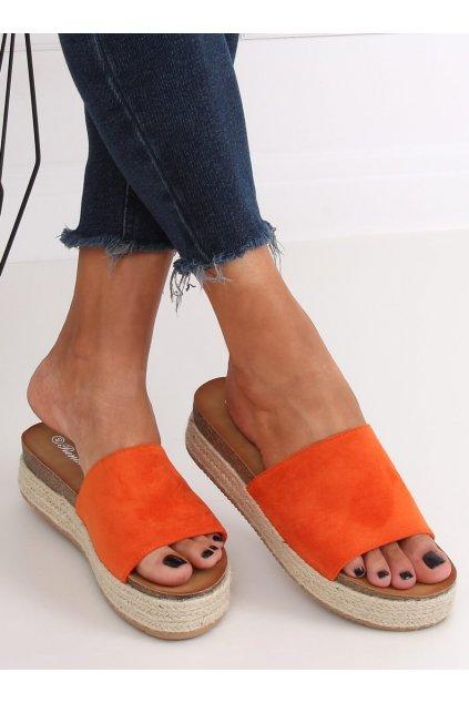 Damske šľapky oranžové NJSK 10-215