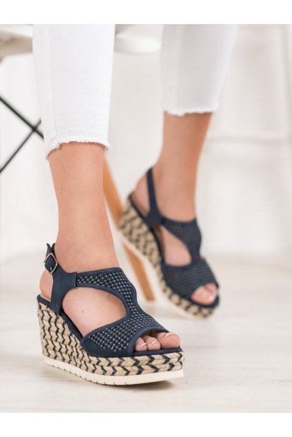 Modré sandále Aclys NJSK A119-06-02MAR