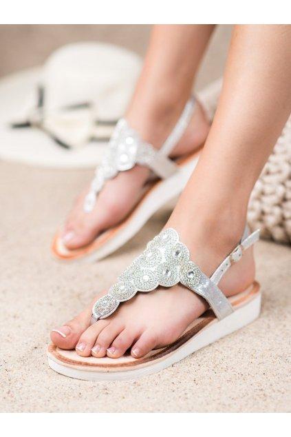 Sivé sandále Sds NJSK 7887S