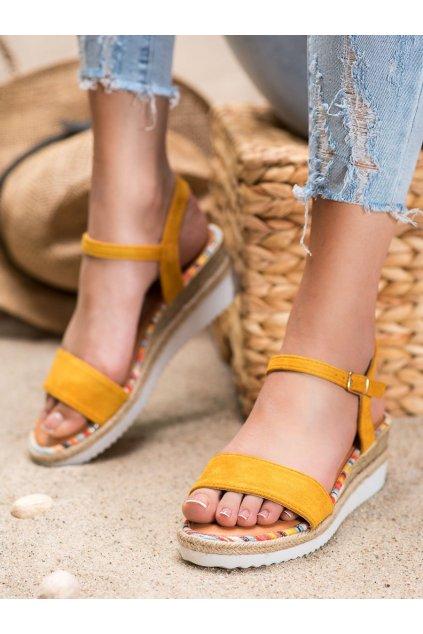 Žlté sandále Yes mile NJSK SS-47Y