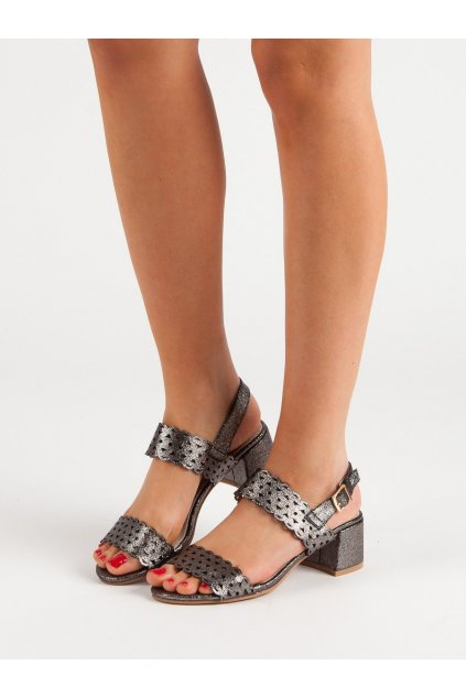 Sivé sandále Kylie NJSK K1951801PLO