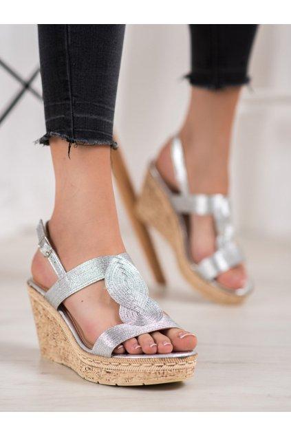 Sivé sandále Renda NJSK 620-66S