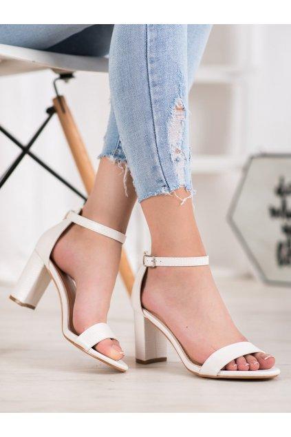 Biele sandále Small Swan NJSK YC-150W