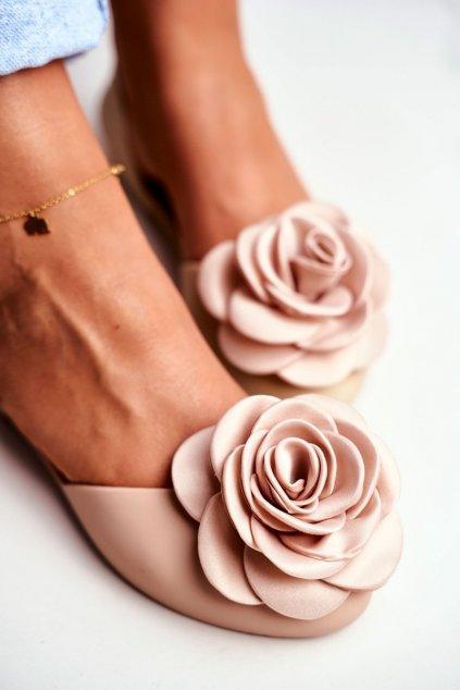 pol pl Gumowe Balerinki Meliski Kwiatki Bezowe Esther 12078 4