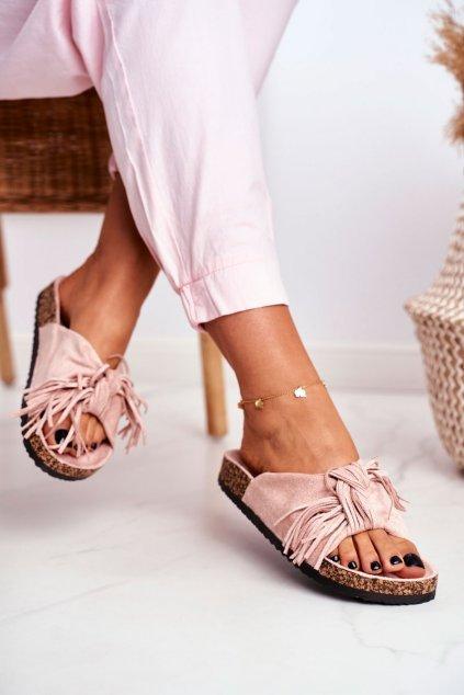 Dámske šľapky farba ružová kód obuvi AM027 CARNATION