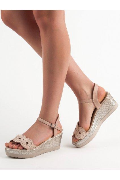 Hnedé sandále Kylie NJSK A119-04-02NU