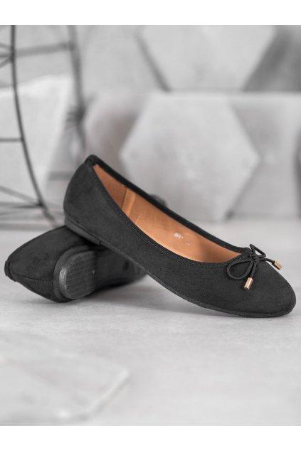 Čierne dámske balerínky Clowse NJSK 8F61B