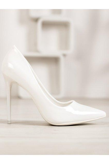 Biele dámske lodičky Small swan kod 5015-48WH