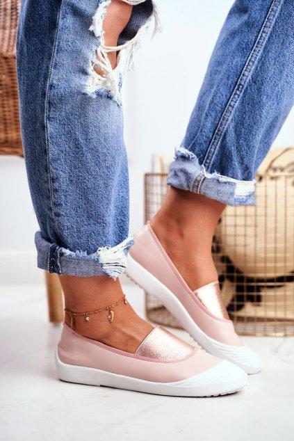 Dámske tenisky slip on farba ružová kód obuvi 8811-24 PINK