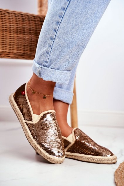 Dámske tenisky farba žltá kód obuvi DD274A161 GOLD