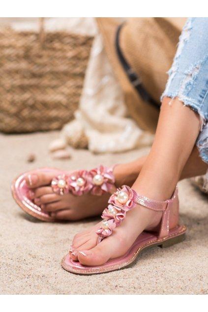 Ružové sandále Exquily NJSK LS22CHA
