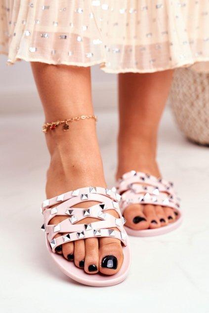 Dámske šľapky farba ružová kód obuvi XD-886 PINK