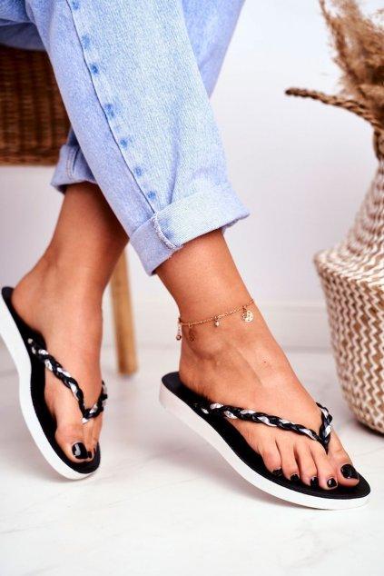 Dámske šľapky farba čierna kód obuvi NK16 BLK