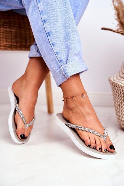 Dámske šľapky farba sivá kód obuvi NK16 GREY