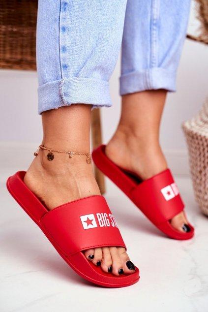 Dámske šľapky farba červená kód obuvi GG274A041 RED
