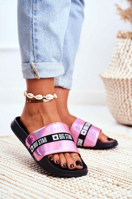 Dámske šľapky farba ružová kód obuvi GG274A008 PINK