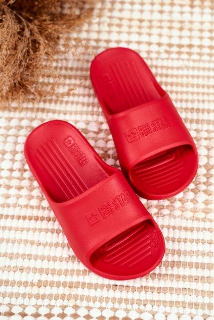 Detské šľapky farba červená kód obuvi GG374809 RED
